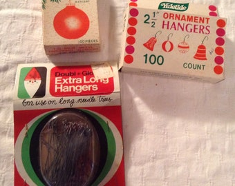 Vintage packages Christmas ornament holiday hangars