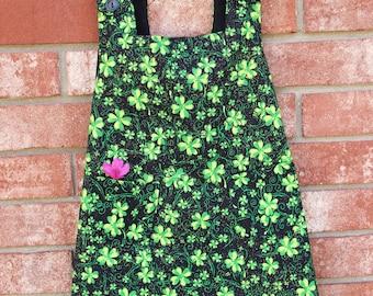 Toddler - St. Patrick's Pinafore Dress/Clover Pinafore Dress