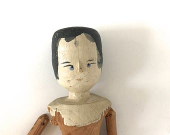 """Antique """"Peg"""" Penny wooden doll"""