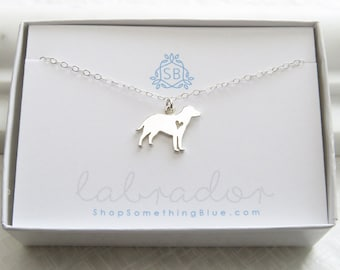 Dog Lover Gift • Labrador Retriever Necklace • Dog Silhouette Charm • Lab Lover • Pet Gift • Best Friend Gift • Dog Jewelry • Doglover