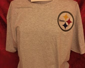 pittsburgh steelers short sleeve gray T shirt xl