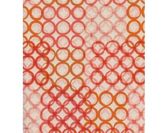 Macrame in Peach -- Poolside -- Cotton + Steel Fabrics, Unbleached Quilting Cotton