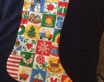 Vintage Quilted Christmas Stockings