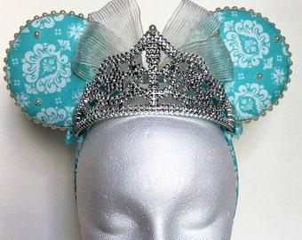 Turquoise Pearl Princess Minnie Ears