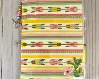Desert Cactus Boho B6 Travelers Notebook TN Planner