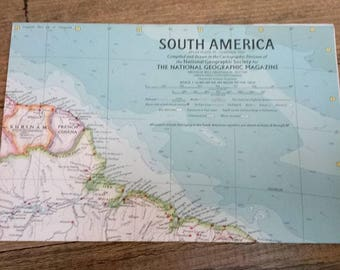 National Geographic Map Of South America-February 1960
