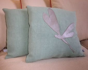 Decorative pillow cover Flying Dragonfly II