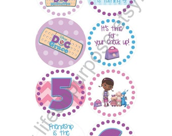 Doc McStuffins Birthday Party Cupcake Toppers