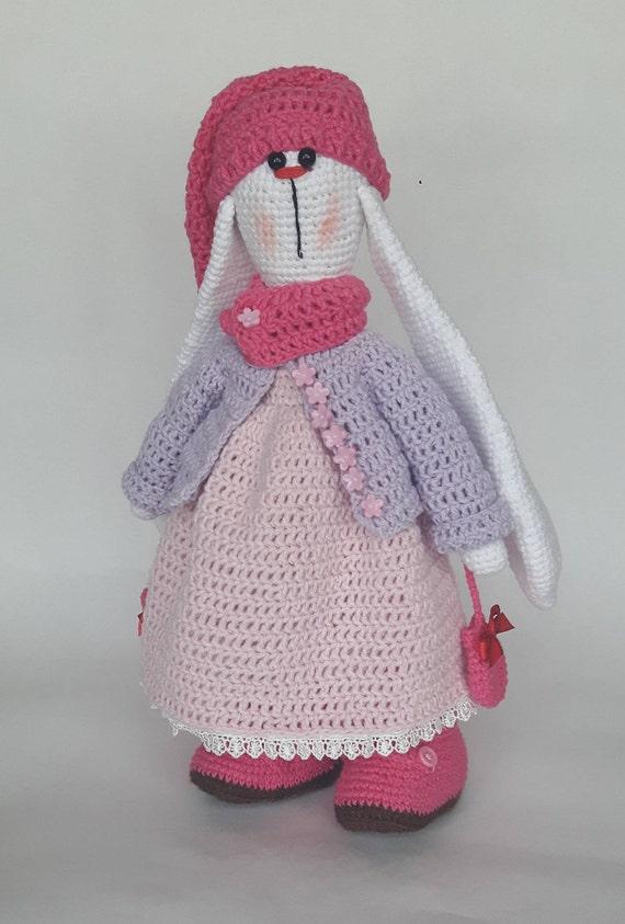 Gehäkelter Hase Amigurumi Bunny handgefertigte Tilda Tilda