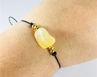 SALE yellow stone bracelet, JOY & HAPPINESS bracelet