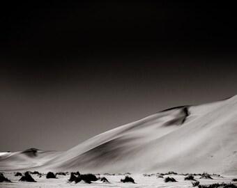 Desert Fine Art Photography - Landscape Art - African Sepia Monochrome Photography - Black and White Home Decor