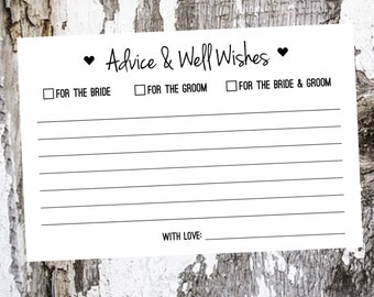 Advice for the Bride and Groom / Packs of 25