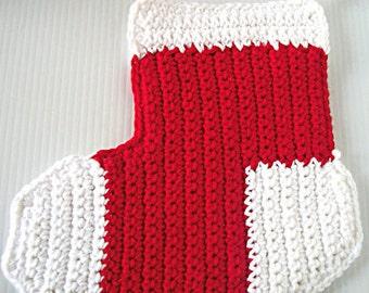Christmas Stocking Hotpad, Holiday Red