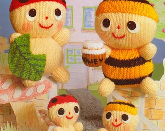 bee and ladybird dk knitting pattern 99p