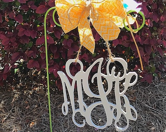 Garden Flag| Wooden Monogram Garden Flag| Wooden Monogram| Garden| Yard Decor| Personalize