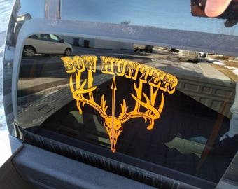 Bow Hunter Vehicle Decal w/ Free Shipping