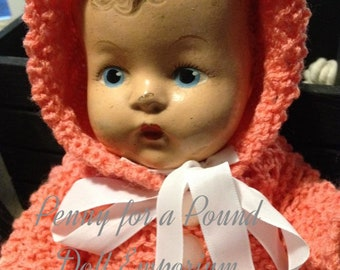 1930s-40s Unmarked Composition Baby Doll Googly Flirty Eyes Curly Molded Hair Ideal?