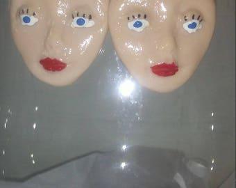 Face Earrings Beautiful Lady Earrings For Her