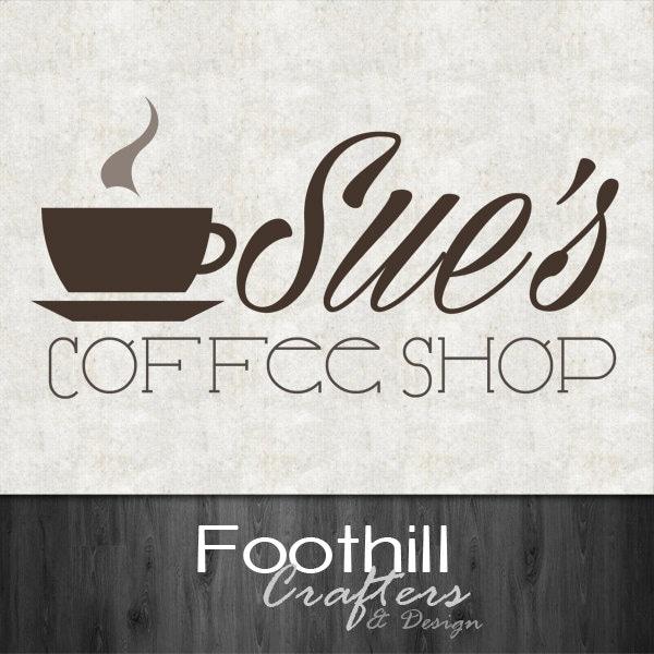 Custom Premade Logo Cafe Coffee Shop Name And
