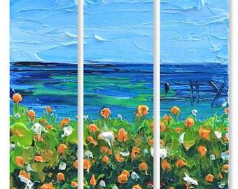 "California Art, Monterey Painting, 36"", Large Wall Canvas Art, MADE TO ORDER, Beach Art, Carmel Valley, California Landscape Artwork,Big Sur"