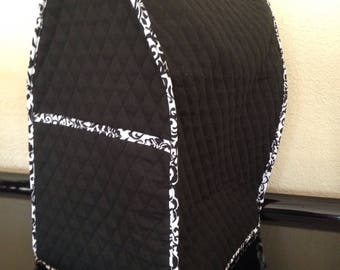 Black and White Stand Mixer Cover with a Pocket Quilted Kitchen Small Appliance Home Decor Ready to Ship