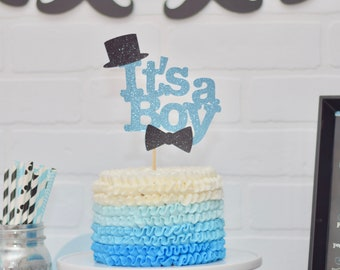 Its A Boy Cake Topper - Welcome Little Man