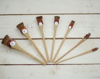 Professional Japanese set (7 pieces) brush for making silk flowers and batik.