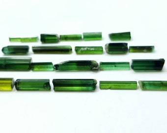 44 Carats Dark Green Tourmaline Crystals from Afghanistan