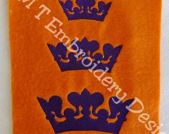 Lynne's Crown, Tiaria  Embroidery Designs - 3 sizes - New Formats Added
