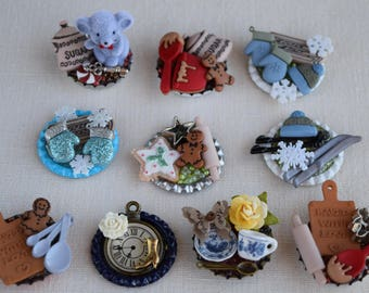 Any Occasion Pins (Brooches), Refrigerator Magnets and Table Decoration