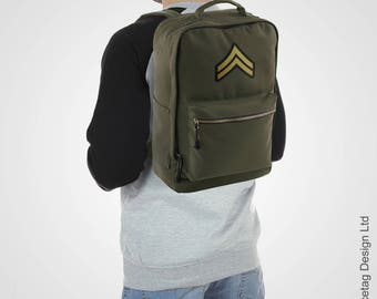 Spicetag Corporal Urban Daypack City Backpack WW2 Army Urban Rucksack Military Trend Bag Retro Fashion Accessory SS17