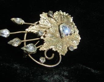 Scitarelli Brooch or Pendant, Vintage Scitarelli Rhinestone Brooch