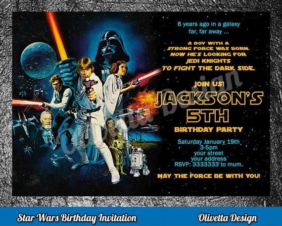 Star wars birthday invitation star wars invitation birthday stopboris Images
