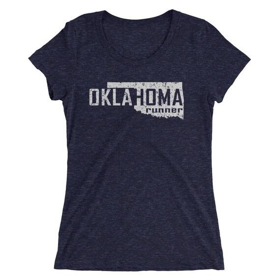 Women's Oklahoma Runner Triblend T-Shirt - Run Oklahoma - Women's Short Sleeve Running Shirt