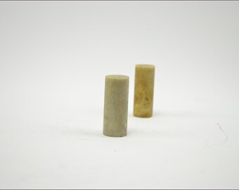 Free Shipping Chinese Calligraphy Material  2x2x5cm Column Qingtian Seal Stone Soapstone / - 5 Pieces - 0003