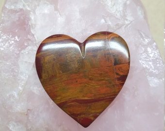35% OFF Large Blood Onyx Heart Cabochon/ backed/ seconds