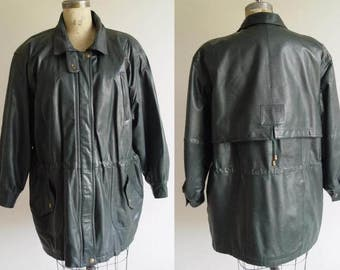 HUNTER GREEN LEATHER 3/4 Size 12-14