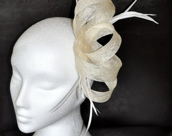 Sinamay Fascinator - Available in many colours and combination of colours