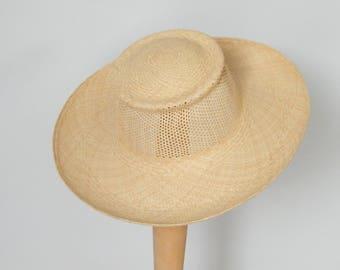 womens summer hat/ ladies sun hat/ natural straw hat/ ladies Panama hat/ elegant beach hat/ Audrey hat/ hat for large head UK/ wide brim hat