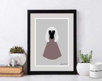 Disney's Briar Rose Poster/Print - minimalist sleeping beauty briar rose aurora poster art decor