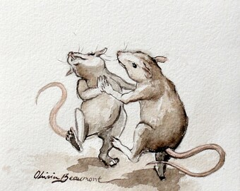 "Mouse Art - ""So dance or sing, or do anything"" - Original Sketch"