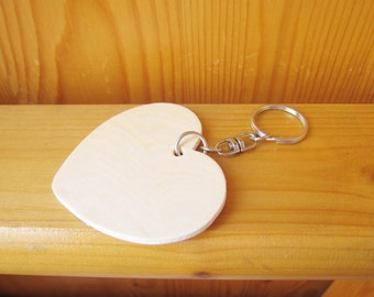 DIY Wood Heart Keyring / Key Chain, Kids Party Gifts, Kids Craft supplies, Custom Keyring, wholesale wood craft, ShineKidsCrafts
