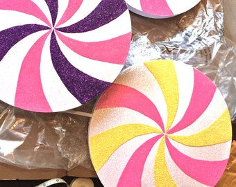 Candyland Decorations Party Willy Wonka Candy Carnival Circus Decor Custom Color Lollipop Decoration 12 Inch Lollipop CHOOSE YOUR COLORS