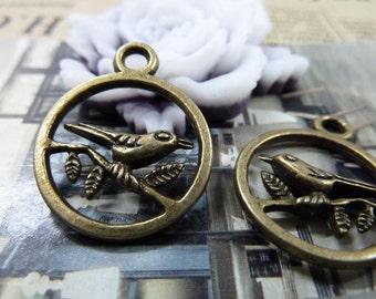 20pcs 20x25mm The Birdcage  Antique Bronze Retro Pendant Charm For Jewelry Bracelet Necklace Charms Pendants C1512