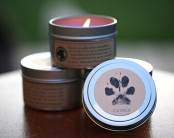 Paw Print Candles