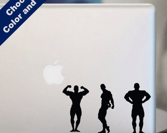 Bodybuilder Pose Set Decal - for Laptop, Car