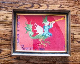 Blatant Beast Faerie Queene Vintage Medieval Needlework Replica English Major Gift