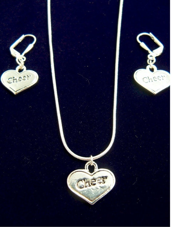 Cheerleader necklace and earring set