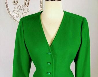 Vintage Pendleton Green Wool Blazer