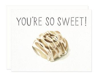 Sweet Cinnamon Roll Greeting Card